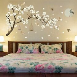Wall Stickers Birds Flower Home Decor Wallpapers Home Art Decal Vinyl Tree Room