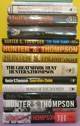 14 Hunter S Thompson Every Book Fear Loathing Vegas Hells Campaign Gonzo Rum