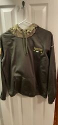 Authentic Nike Green Bay Packers Womens 2017 Nfl Salute To Service Hoodie Med