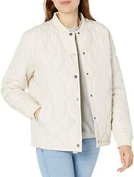 Rvca Womens Downtown Quilted Bomber Jacket