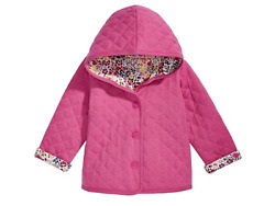 First Impressions Baby Girls Ditzy Floral Quilted Reversible Cotton Jacket 2mth