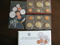 1989 Uncirculated Mint Coin Set P D Us Mint Original Package And Coa