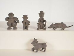 Vintage 1950s Marx Super Circus Playset Figures Monkeys In Hats Rat And Dog Lot