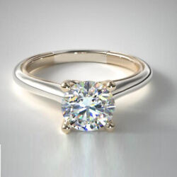 Solid 950 Platinum Band 0.50 Ct Natural Diamond Engagement Ring Size 5 6 7 8 9