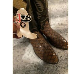 Justin Boots Brown 🐜 Size 10.5d Vintage Boots Round Toes Extinct