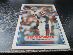 Steve Atwater Denver Broncos - Safety 1989 Topps Rookie Card 52t Mint