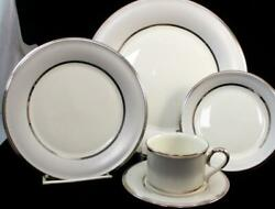 Lenox China Ivory Frost Five Piece Place Setting Great Condition