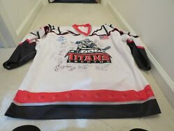 Trenton Titans - Game Used Jersey - Team Signed - White