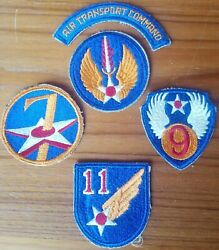 Us Army Air Force Patches Transport Command 7 9 11 Corps Europe Theater Wwii