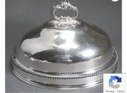 19thc A.b. Savory And Sons London Sheffield Silver Plate Meat Serving Dome Cover