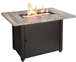 Gas Firepit Table Propane Outdoor Lp Patio Backyard Heater Bronze Large 40 New