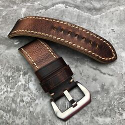 For Luminor Radiomir Pam Watches 22m 24mm 26mm Brown Leather Strap