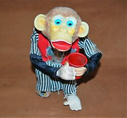 Vintage Battery Operated Toy Monkey, Parts Or Repair Only, Cragstan Industries