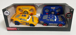 Disney Store Cars Lightning Mcqueen And Dinoco Cruz Rc Remote Control Set Sold Out