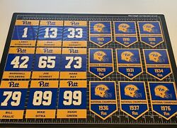 Custom Pitt Pittsburgh Panthers Championship And Retired Number Decal Banners