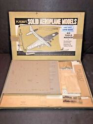 Rare 1950s Plycraft Solid Aeroplane Models 6 Wwii Planes Army - Navy Balsam Wood
