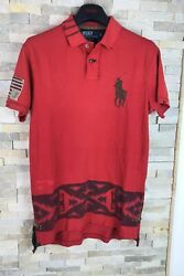 Polo Mens Size M Custom Fit Aztec Navajo Red T Shirt Top
