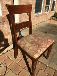 Ethan Allen Wooden Side Dining Chairs Set Of 6 - Very Good Condition