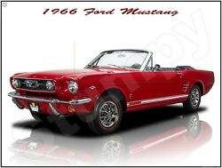 1966 Ford Mustang Metal Sign 9 X 12 Or 12 X 16