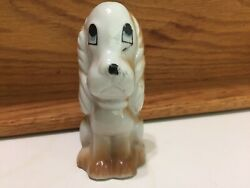 Vintage Dog Hound or Cocker Spaniel Sitting with Long Ears 3quot; high