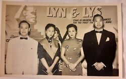 3 Vintage Old 1950's Photos Of Chinese Hong Kong Actors Men Women And Wedding