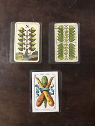 Rare Antique Playing Cards Mexico 1920's Christmas Gift 1953 Lot Of 3