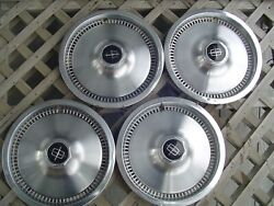 Vintage 1975 81 Lincoln Mark Continental Town Car Hubcaps Wheel Covers Fomoco