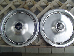 2 Vintage 1975 81 Lincoln Mark Continental Town Car Hubcaps Wheel Covers Fomoco
