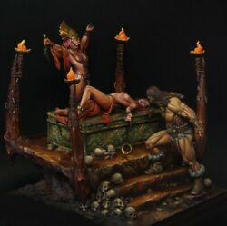 Blood For The Black Sun Painted Toy Fantasy Miniature Pre-sale   Museum
