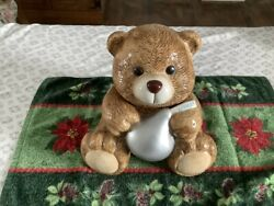 Vintage Hershey's Kisses Bear Cookie Jar W/recipe For Classic Choco Chip Cookies