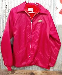 Vintage Kent Feeds Guaranteed Swingster Red Nylon Jacket Size Small Feed Seed S