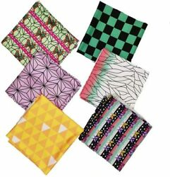 Japanese Quilting Fabric Squares Patchwork For Diy Sewing Crafting Clothes Mask