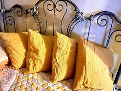 Crate amp; Barrel Yellow Pillows amp; Removable Covers Set of 4