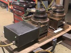 Troyke M-230 Nc Twin Rotary Tables W/ Servo Motor, 5c Collet Nose, Used