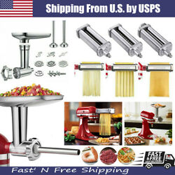 For Kitchenaid Stand Mixer Meat Grinder / Pasta Roller Cutter Maker Attachment