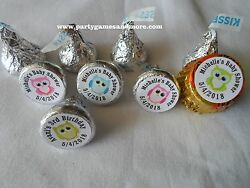 108 Personalized Owl Baby Shower Birthday Party Hersheyand039s Kiss Candy Labels