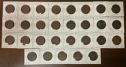 Lower Canada Lot Of 29 Bouquet Sous Tokens