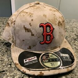 Boston Red Sox Hat Cap Fitted 7 3 4 New Era 59Fifty Desert Camo NWT