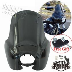 Black Fairing Windshield Headlight Extension Block For Harley Dyna Fxdl Fxdf Fxd