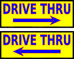 Drive Thru - Pair Of Vinyl Banners - Rugged And Durable - Many Sizes Made In Usa