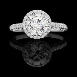 Solid 950 Platinum Band 1.30 Ct Natural Diamond Engagement Womenand039s Ring Size 6 7