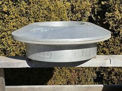 Vintage Circular Foundry Form, 2 Piece Wood 21 Dia Factory Castings Form