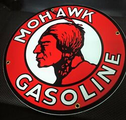 Mohawk Gas Gasoline Porcelain Advertising Sign