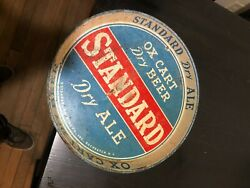 Vintage Ox Cart Standard Dry Ale Beer Tray, Rochester Ny Brewing Company