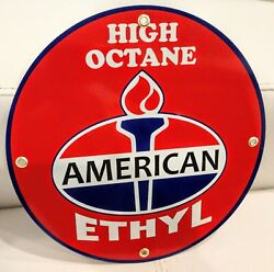 American Amoco Standard Gasoline Gas Oil Sign.. Free Ship On Any 8 Signs