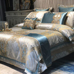 4/6/8/10pcs Royal Linen And Bedspread On The Bed Double Bed Bedding Set 2021