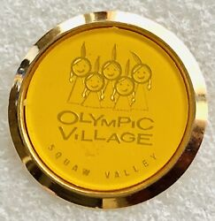 Super Rare And Vintage Olympics Lapel Hat Pin - Squaw Valley Olympic Village
