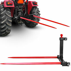 Category 1 Tractor 3 Point Attachments Trailer Hitch W/tow 49'' Hay Bale Spears
