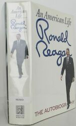 Ronald Reagan / An American Life Signed 1st Edition 1990 2101023