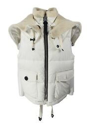 Coach Down Shearling Puffer White Vest One Size Unisex